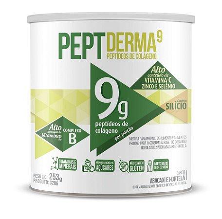 Pept Derma 9 Peptídeos de Colágeno Hidrolisado Abacaxi com Hortelã 300g - Chá Mais