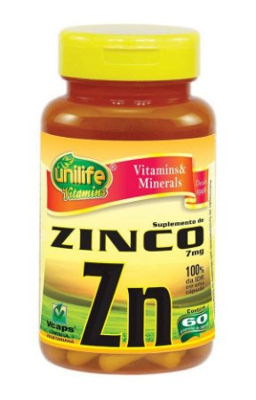 Zinco Quelato Zn 500mg 60 cápsulas - Unilife
