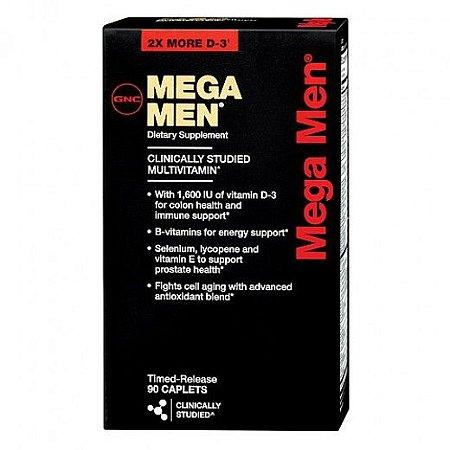 Mega Men Multivitamínico Para Homens 90 Capsulas - GNC