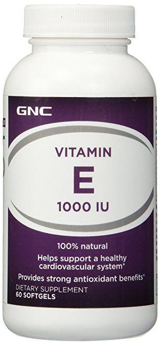 Vitamina E 1000 IU - 60 Capsulas - GNC