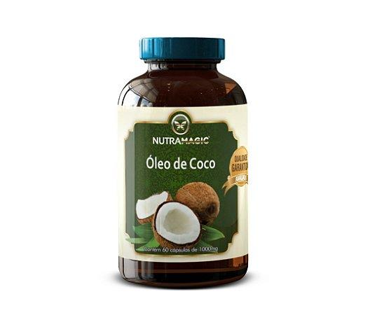 Óleo de Coco 1000mg 60 Cápsulas - NutraMagic