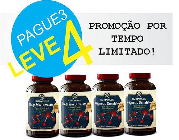 Magnésio Dimalato 550mg 60 Cápsulas - NutraMagic - Pague 3 Leve 4