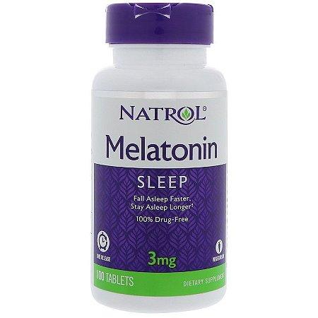 Melatonina 3 mg Liberação Controlada (Time Release) 100 Cápsulas - Natrol