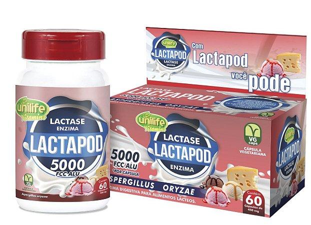 Lactase Lactapod Enzima 15g 60 cápsulas 450mg - Unilife