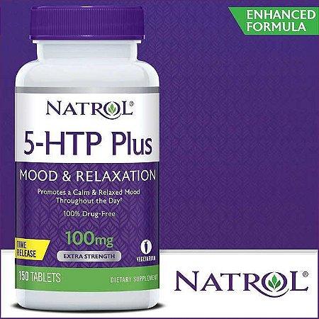 5 htp Plus 100mg Mood & Relaxtion - 150 Capsulas - Natrol