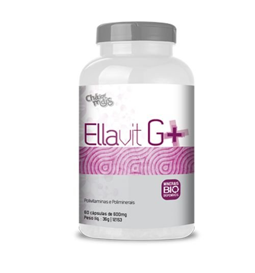Ellavit G+ 600mg 60 Cápsulas - Chá Mais