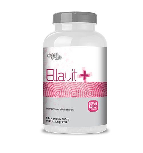 Ellavit+ Polivitamínico para Mulher - 60 Cápsulas - 600mg - Chá Mais