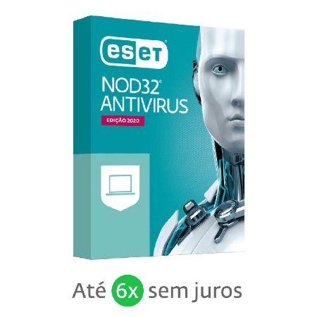 ANTIVIRUS ESET NOD32 DIGITAL P/ DOWNLOAD - 1 PC / 2 ANOS