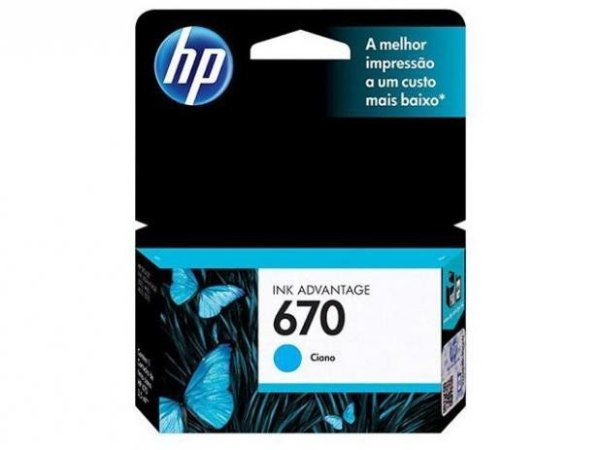 CARTUCHO HP 670 AZUL ORIGINAL