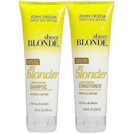 Shampoo + Condicionador Sheer Blonde Go Blonder John Frieda