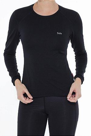 Camiseta Segunda Pele  Feminina Solo X-Thermo DS Preta