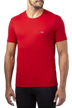 Camiseta Proteção Solar Solo ION UV Vermelho