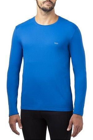 Camiseta Manga Longa Solo ION UV Proteção Masculina Azul