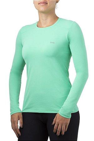 Camiseta Feminina Manga Longa Solo ION UV Proteção Solar Menta