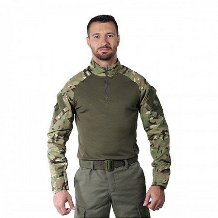 Camisa Combat Shirt Bélica Steel Multicam