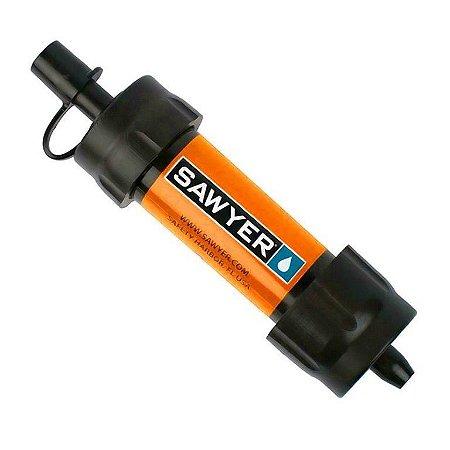 Filtro de Água Portátil Purificador Mini Sawyer Laranja