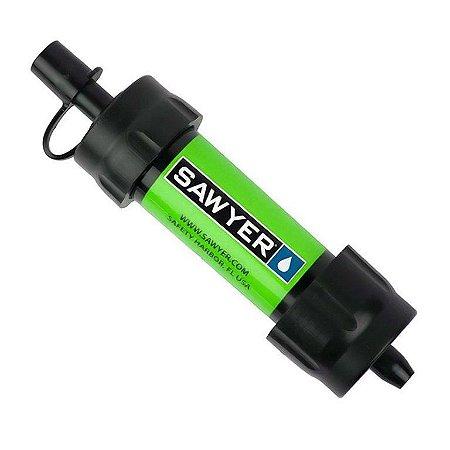 Filtro de Água Portátil Purificador Mini Sawyer Verde