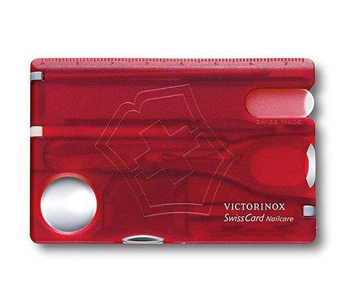 Cartão Victorinox SwissCard Nailcare Vermelho Translúcido 0.7240.T