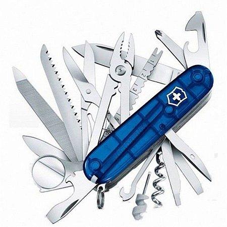 Canivete Victorinox SwissChamp Azul Translúcido 1.6795.T2