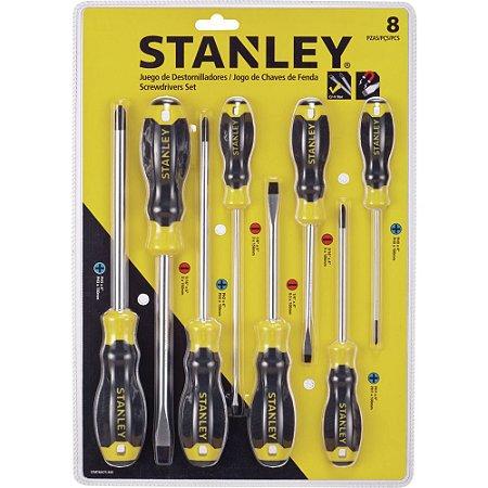 Jogo de Chave de Fenda Stanley 8 Peças
