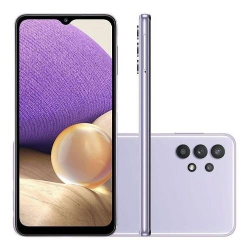 Smartphone Samsung Galaxy A32 128GB 4G Wi-Fi Tela 6.4'' Dual Chip 4GB RAM Câmera Quádrupla + Selfie 20MP - Violeta