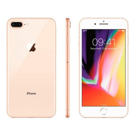 IPhone 8 Plus Dourado 64GB SemiNovo De Vitrine