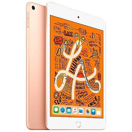 """Apple iPad Mini 5 A2133 64GB Wi-Fi Tela Retina de 7.9"""" 8MP/7MP OS iOS - Dourado"""