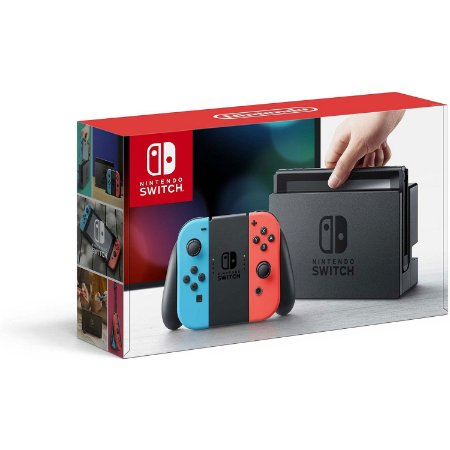 Console Nintendo Switch 2019 wi-fi Bluetooth Bivolt - Vermelho/Azul