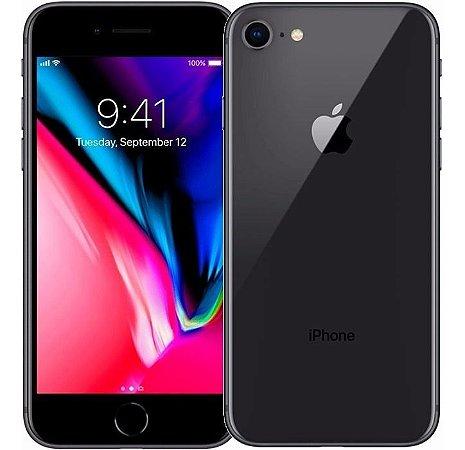 """iPhone 8 Apple com iOS 11, Câmera de 12 MP, Resistente à Água, Wi-Fi, 4G LTE e NFC, 64GB, Cinza-Espacial, Tela HD de 4,7"""""""