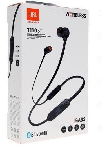 Fone JBL Tune 110 bt p2 Bluetooth preto