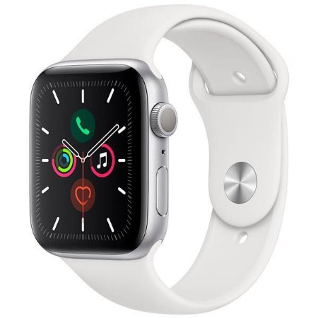 Smartwatch Apple watch Serie 5 40mm GPS Prata Com pulseira esportiva cor  Branca
