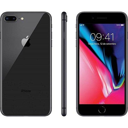 iPhone 8 Apple Plus com 64GB, Tela Retina HD de 5,5, iOS 12, Dupla Câmera Traseira, Resistente à Água, Wi-Fi, 4G LTE e NFC – Preto (Cinza Espacial)_
