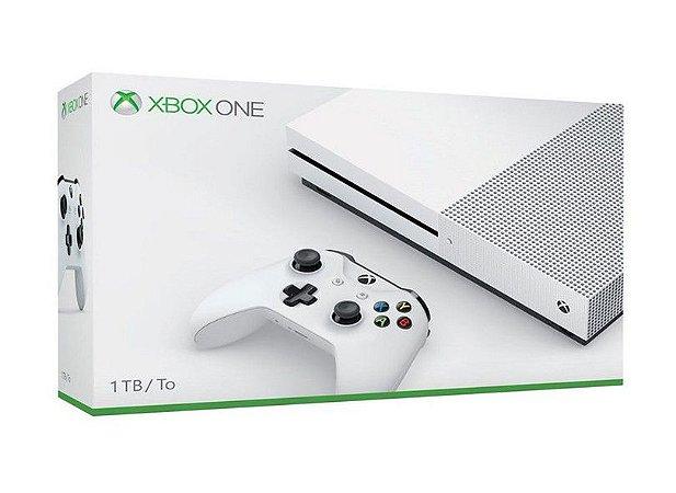 Console Xbox One S 1TB Branco - 2 Controles