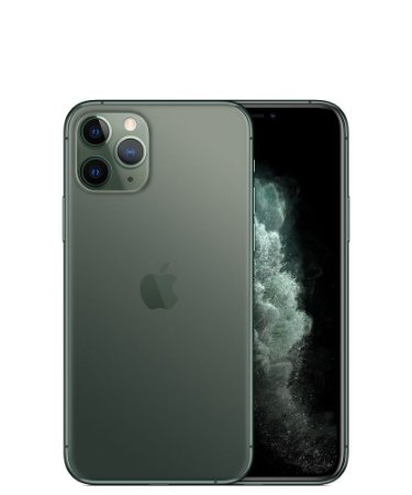 "Apple iPhone 11 Pro 256GB Super Retina OLED 5.8"" Tripla 12MP/12MP iOS - Verde Meia Noite - Lacrado na caixa - 1 Ano de Garantia Apple."
