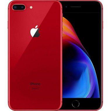 iPhone 8 Apple Plus com 64GB, Tela Retina HD de 5,5, iOS 12, Dupla Câmera Traseira, Resistente à Água, Wi-Fi, 4G LTE e NFC – Vermelho Red