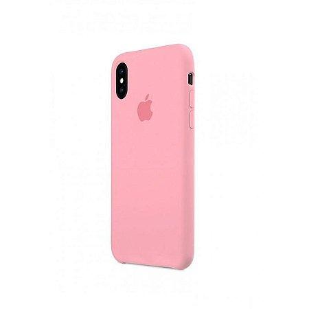 Capa Capinha Case de Silicone para Iphone X / Iphone XS - Rosa