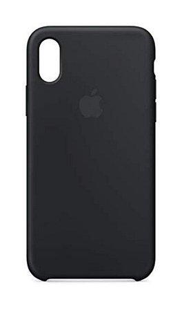 Capa Capinha Case de Silicone para Iphone X / Iphone XS - Preto