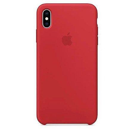 Capa Capinha Case de Silicone para Iphone XR - Vermelho