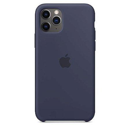 Capa Capinha Case de Silicone para Iphone 11 Pro Max - Azul Escuro