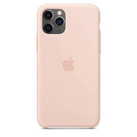 Capa Capinha Case de Silicone para Iphone 11 Pro Max - Rosa Claro