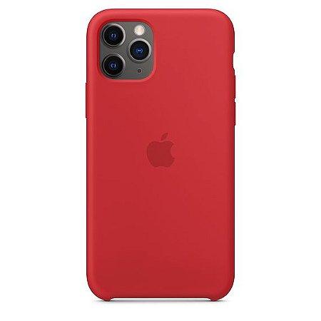 Capa Capinha Case de Silicone para Iphone 11 Pro Max - Vermelho
