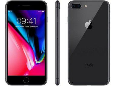 iPhone 8 Plus Preto 256GB Semi Novo De Vitrine