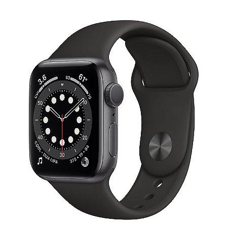 Apple Watch Serie 6 Gps 44mm Original Apple - Cinza Espacial ( Preto )