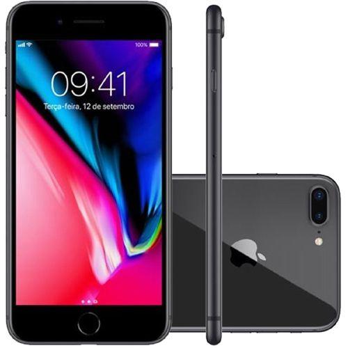 Apple iPhone 8 Plus Space Gray 128GB Semi Novo De Vitrine