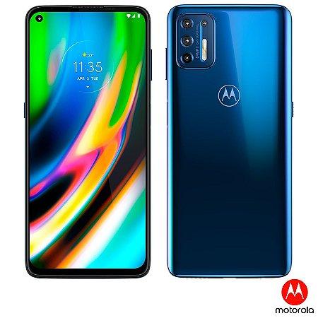 """Smartphone Moto G9 Plus Azul Índigo, com Tela de 6,8"""", 4G, 128GB e Câmera Quádrupla de 64MP + 8MP + 2MP + 2MP - XT2087-1"""