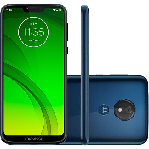 "Smartphone Motorola Moto G7 Power 32GB Dual Chip Android Pie - 9.0 Tela 6.2"" 1.8 GHz Octa-Core 4G Câmera 12MP - Azul Navy"