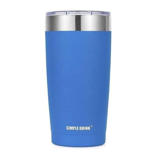 Copo Térmico Up Simple Drink 540ml Azul Viktwa