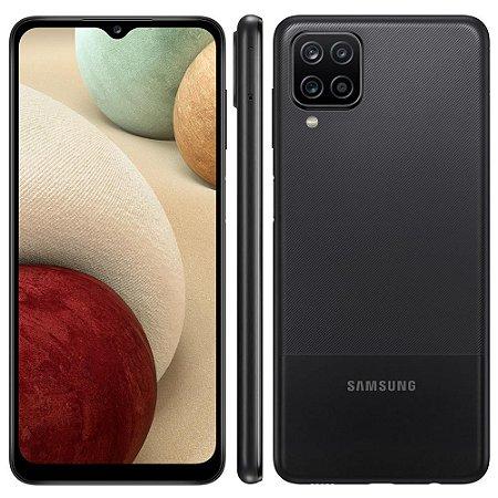 """Smartphone Samsung Galaxy A12 Preto 64GB, Tela Infinita de 6.5"""", Câmera Quádrupla, Bateria 5000mAh, 4GB RAM e Processador Octa-Core"""