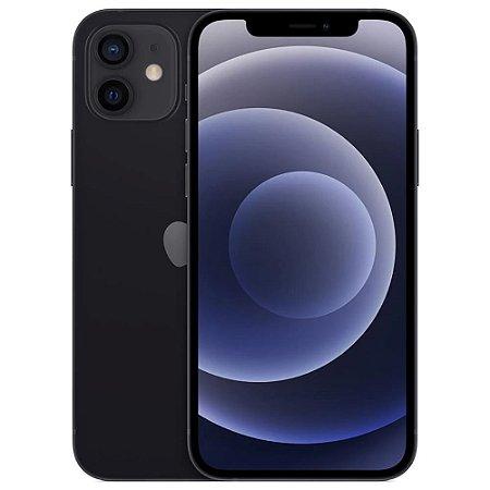 """iPhone 12 Apple 64GB Preto Tela de 6,1"""", Câmera Dupla de 12MP, iOS"""