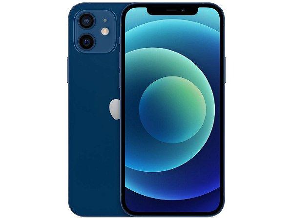 "iPhone 12 Apple 128GB Azul Tela 6,1"" - Câm. Dupla 12MP iOS"